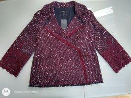 Escada Blazer en laine rouge carmin laine