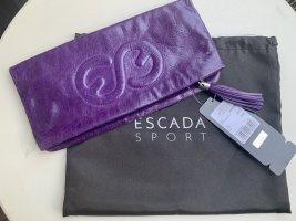 Escada Clutch aus Leder violett NEU mit Preisschild und original Dustbag