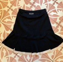 Escada Plaid Skirt dark blue wool