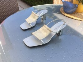 Escada Sandalo con cinturino beige chiaro-argento