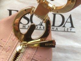 Escada Leder Schultertasche, matt rosa, getragen