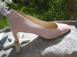 Escada Luxus Schuhe Wild & Glattleder Rosé & Lavendel Pastell Blass Matt NP 359 € Top