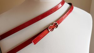 Escada Double Belt black-red leather