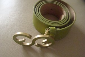 Escada Sport Leather Belt lime-green leather