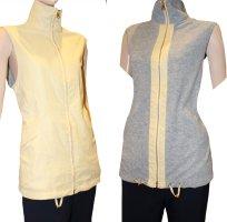 Escada Sport Fleece vest grijs-zandig bruin Polyester