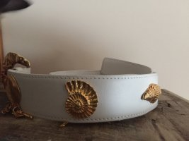 Escada Waist Belt white-gold-colored leather