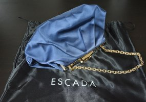 Escada Bolso de tela azul oscuro Seda