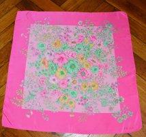 Escada Zijden doek roze-turkoois Zijde