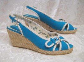 Coco Perla Wedge Sandals turquoise