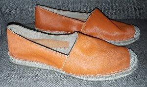 Selected Femme Slip-on orange cuir