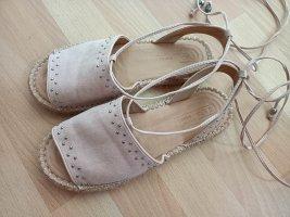 Asos Shoes Espadryle srebrny-różany