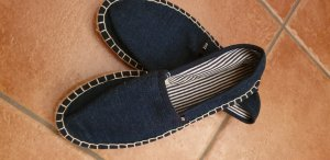 FitZ Mokasyny ciemnoniebieski Tkanina z mieszanych włókien
