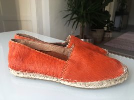 Selected Femme Espadrille orange fluo cuir