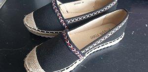 Peppa rose Zapatos de marinero negro Lino