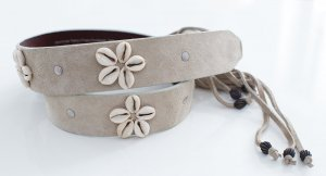 Replay Leather Belt oatmeal leather