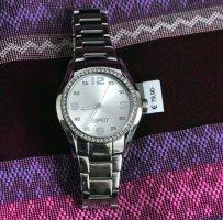 Esprit Armbanduhr mit Zirkoniasteinen auf der Lynette - weißes Ziffernblatt - neu