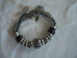 Esprit Armkette silber schwarz
