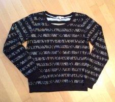 Esprit black & white Sweatshirt mit Streifen & Spitze Gr.36