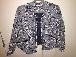 Esprit Blau weißer Blazer Jacke mit Strukturmuster 40 NEU NP 119€ aktuelle Impressionen