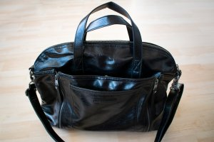 Esprit Briefcase black imitation leather