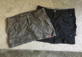 Esprit Cargo Skirt khaki-black cotton