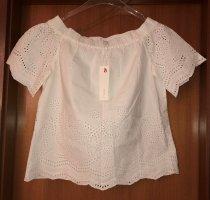 Esprit Carmen Blouse white-natural white cotton