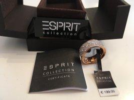 Esprit-Collection Silberring vergoldet mit Zirkonia