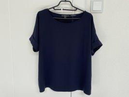 Esprit Damen Bluse Top Shirt marine blau Gr. S 36 oversize