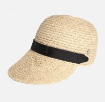 Esprit Chapeau de paille noir-beige