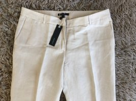 Esprit Pantalon en lin blanc cassé tissu mixte
