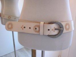 Esprit Leather Belt white-cognac-coloured leather