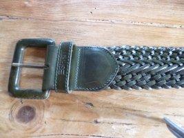 Esprit Braided Belt forest green leather