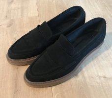 Esprit Moccasins black leather