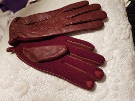 esprit collection Leren handschoenen bordeaux