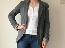 Esprit Oversized Blazer grau Business-Casual-Look