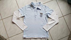 Esprit Camiseta tipo polo azul celeste-blanco Algodón