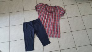 Esprit Pyjama dark blue-red cotton