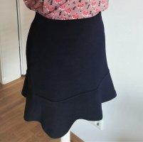 Esprit Rozkloszowana spódnica niebieski-ciemnoniebieski