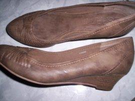 Esprit  Schuhe mit Keilabstz, antikbraun, sehr gepflegter Zustand, Gr. 39/40