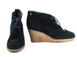 Esprit Stiefelette ,Veloursleder ,schwarz.Gr. 40,Zustand sehr gut