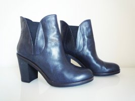Esprit Stiefeletten, Leder, Größe 40, dunkelblau, 9 cm Absatz