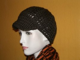 Esprit Knitted Hat brown red wool