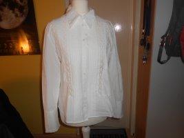 Esprit - weiße Bluse mit gehäkelten Elementen Gr. S