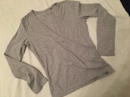 Esprit Wraparound Blouse light grey-grey mixture fibre