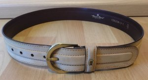 Aigner Leather Belt oatmeal leather