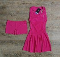 Asics Sukienka ze stretchu malina-różowy neonowy