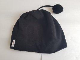 Etirel Mütze mit Bommel schwarz Fleece Einheitsgröße