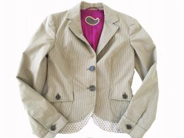 Etro Klassischer Blazer sand brown-carmine cotton