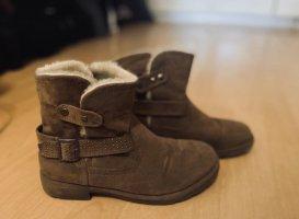 Even&Odd hellbraune graue gefütterte Boots Stiefel Größe 37