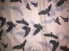 Even & Odd: Loop Schal nude rosa mit schwarzen Vögeln NEU